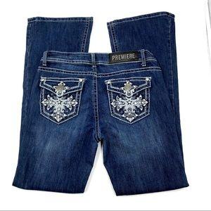 Premiere Decorative Boot Cut Jeans, Size 5/6, EUC